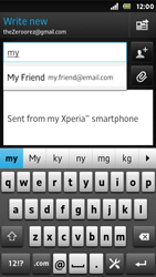 Sony ST25i Xperia U - E-mail - Sending emails - Step 6