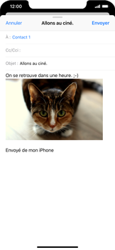 Apple iPhone XS Max - E-mails - Envoyer un e-mail - Étape 14