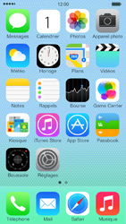 Apple iPhone 5c - Contact, Appels, SMS/MMS - Envoyer un SMS - Étape 1