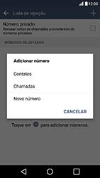 LG K10 - Chamadas - Como bloquear chamadas de um número específico - Etapa 9