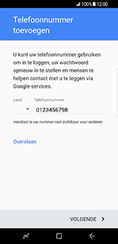 Samsung Galaxy S8 (G950) - Applicaties - Account aanmaken - Stap 14