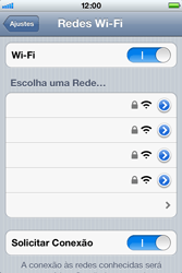Apple iPhone iOS 5 - Wi-Fi - Como configurar uma rede wi fi - Etapa 5