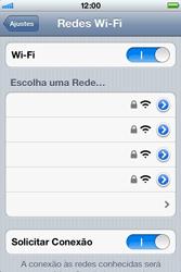 Apple iPhone iOS 5 - Wi-Fi - Como configurar uma rede wi fi - Etapa 5