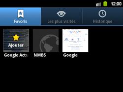 Samsung B5510 Galaxy TXT - Internet - navigation sur Internet - Étape 10