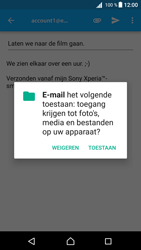 Sony Xperia Z5 Compact (E5823) - Android Nougat - E-mail - Bericht met attachment versturen - Stap 11