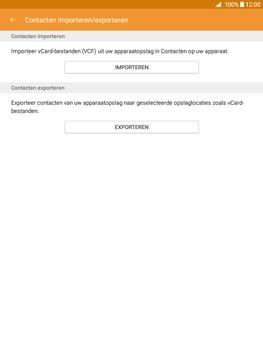 Samsung Galaxy Tab A 9.7 (SM-T555) - Contacten en data - Contacten kopiëren van SIM naar toestel - Stap 7