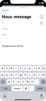 Apple iPhone X - iOS 13 - E-mail - envoyer un e-mail - Étape 3