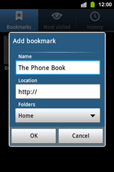 Samsung S5830i Galaxy Ace i - Internet - Internet browsing - Step 8