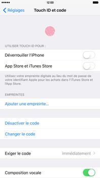 Apple iPhone 6s Plus - Sécuriser votre mobile - Activer le code de verrouillage - Étape 7