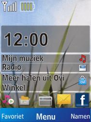 Nokia X2-00 - Voicemail - Handmatig instellen - Stap 1