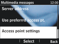 Nokia Asha 201 - Mms - Manual configuration - Step 9