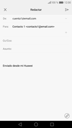 Huawei P9 Lite - E-mail - Escribir y enviar un correo electrónico - Paso 8