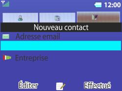 Bouygues Telecom Bc 311 - Contact, Appels, SMS/MMS - Ajouter un contact - Étape 12
