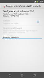 Sony Xpéria M2 - Internet et connexion - Partager votre connexion en Wi-Fi - Étape 7