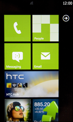 HTC 7 Trophy - Settings - settings wizard - Step 1