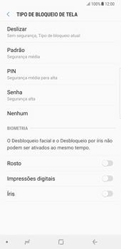 Samsung Galaxy Note 8 - Segurança - Como ativar o código de bloqueio do ecrã -  6