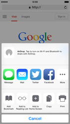 Apple iPhone 6 iOS 8 - Internet - Internet browsing - Step 5