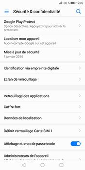 Huawei P Smart - Sécuriser votre mobile - Personnaliser le code PIN de votre carte SIM - Étape 6
