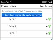 BlackBerry 9620 - Wi-Fi - Como configurar uma rede wi fi - Etapa 7