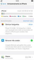 Apple iPhone 8 - Gestão de espaço - Gestão automática de aplicações não utilizadas -  6