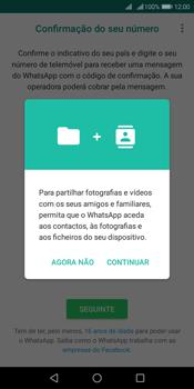 Huawei Y6 (2018) - Aplicações - Como configurar o WhatsApp -  6