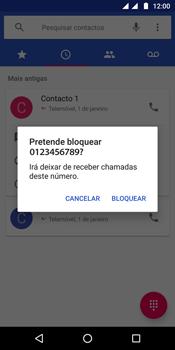 Motorola Moto G6 - Chamadas - Como bloquear chamadas de um número -  6