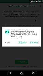 Sony Xperia XA (F3111) - Aplicações - Como configurar o WhatsApp -  7