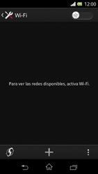 Sony Xperia L - WiFi - Conectarse a una red WiFi - Paso 5