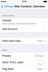 Apple iPhone 4 S iOS 7 - E-mail - Manual configuration (outlook) - Step 9