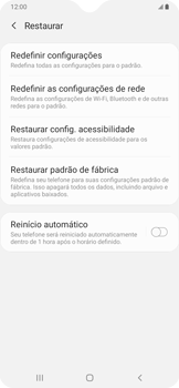 Samsung Galaxy A20 - Funções básicas - Como restaurar as configurações originais do seu aparelho - Etapa 6
