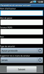 Samsung I5800 Galaxy Apollo - E-mail - Configuration manuelle - Étape 7