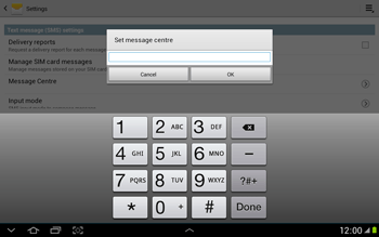 Samsung N8000 Galaxy Note 10-1 - SMS - Manual configuration - Step 6