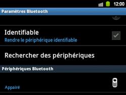 Samsung B5510 Galaxy TXT - Bluetooth - connexion Bluetooth - Étape 13