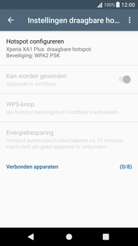 Sony Xperia XA1 Plus (G3421) - WiFi - Mobiele hotspot instellen - Stap 10