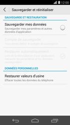Huawei Ascend P7 - Device maintenance - Retour aux réglages usine - Étape 6