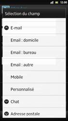 Sony Xpéria S - Contact, Appels, SMS/MMS - Ajouter un contact - Étape 12