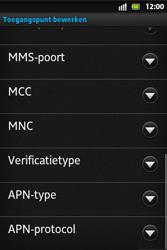 Sony ST27i Xperia Go - MMS - handmatig instellen - Stap 14