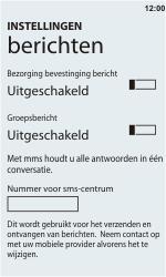 HTC C110e Radar - SMS - Handmatig instellen - Stap 5