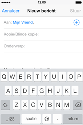 Apple iPhone 4 met iOS 7 - E-mail - Hoe te versturen - Stap 6
