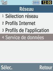 Samsung C3590 - Internet et connexion - Désactiver la connexion Internet - Étape 5