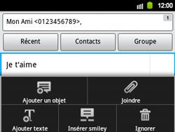 Samsung B5510 Galaxy TXT - MMS - Envoi d