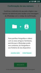 Samsung Galaxy S7 Edge - Android Nougat - Aplicações - Como configurar o WhatsApp -  7