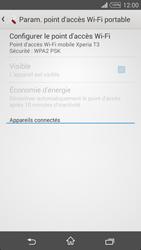 Sony Xpéria T3 - Internet et connexion - Partager votre connexion en Wi-Fi - Étape 7