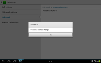 Samsung N8000 Galaxy Note 10-1 - Voicemail - Manual configuration - Step 10