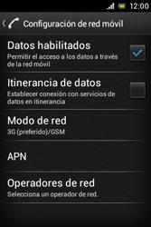 Sony Xperia E - Red - Seleccionar el tipo de red - Paso 6