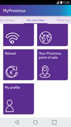 LG X Screen - Applications - MyProximus - Step 20
