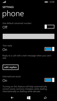 Microsoft Lumia 640 XL - Voicemail - Manual configuration - Step 9