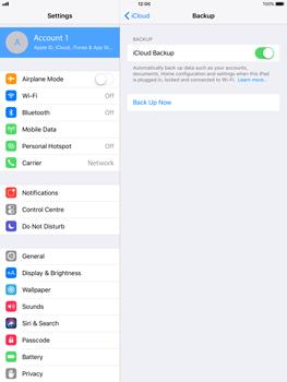 Apple iPad Air - iOS 11 - Device maintenance - Create a backup of your data - Step 10