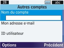 Samsung S3570 Chat 357 - E-mail - Configuration manuelle - Étape 6