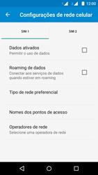 Motorola Moto G (2ª Geração) - Rede móvel - Como ativar e desativar uma rede de dados - Etapa 8